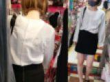 【クロッチ丸見え】細身ショートカット美少女
