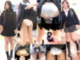 【2本セット】2アングルめくりP撮り+突き出しモロP制服女子 =鬼畜スカートめくり20回SET